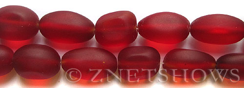 Cultured Sea Glass nugget Beads  <b>18-22mm</b> 05-Cherry Red (6-pc-str)(4-in-str)   per  <b>5-str-hank</b>
