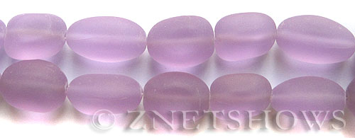 Cultured Sea Glass nugget Beads  <b>18-22mm</b> 39-Periwinkle Changes (6-pc-str)(4-in-str)   per  <b>5-str-hank</b>