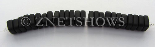 Cultured Sea Glass square spacer Beads  <b>9x8mm</b> 02-Jet Black (25-pc-str)   per  <b>5-str-hank</b>
