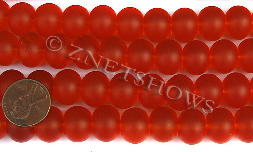 Cultured Sea Glass rondelle Beads  <b>14x10mm</b> 83-Tangerine    per  <b>5-str-hank</b>