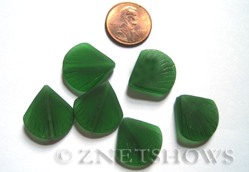 Cultured Sea Glass shell Beads  <b>21x19mm</b> 25-Shamrock    per  <b>6-pc-bag</b>