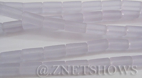 Cultured Sea Glass tube Beads  <b>9x4mm</b> 39-Periwinkle Changes (strand length 8 inches)   per  <b>5-str-hank</b>