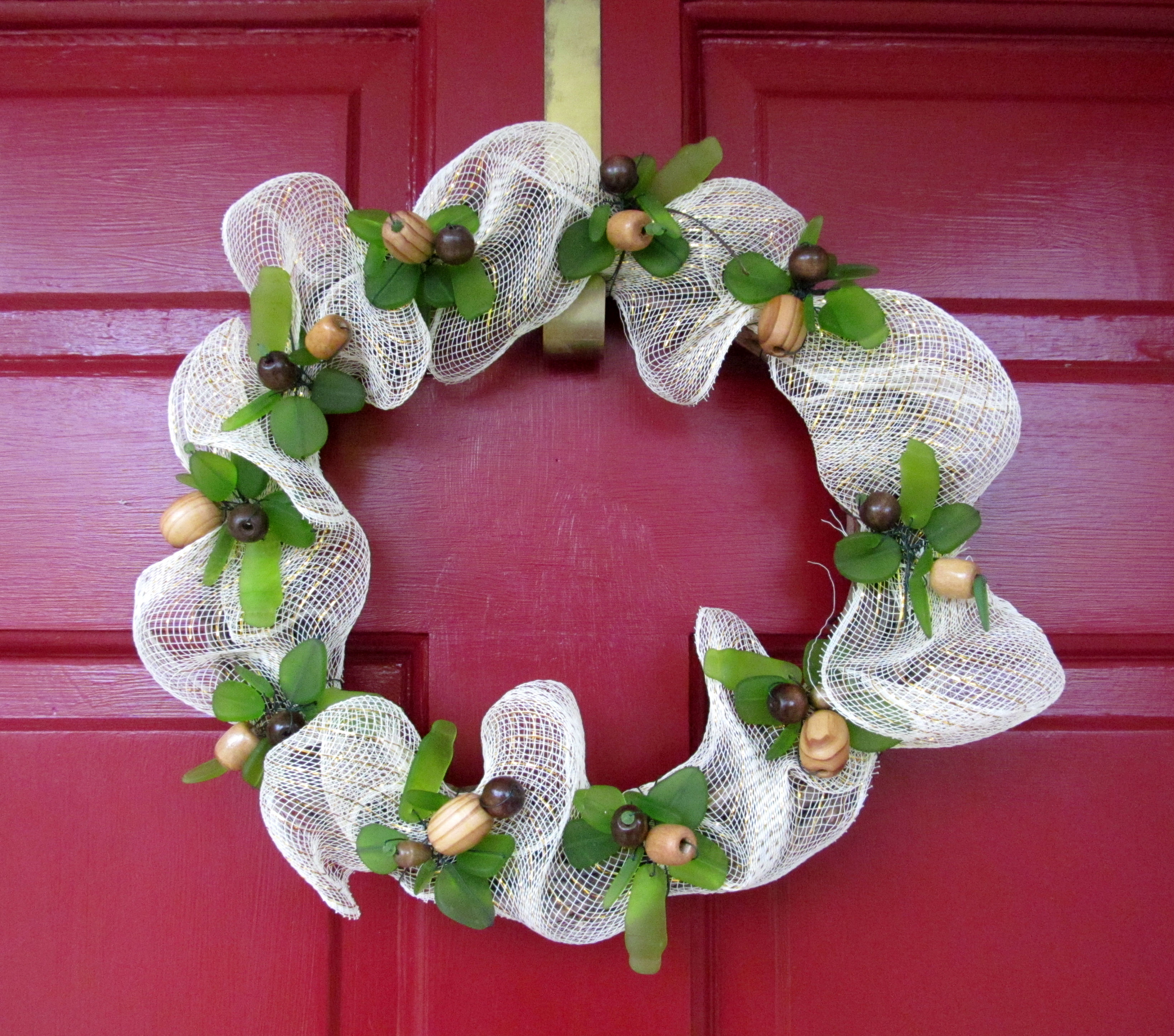 Sea Glass Wreath by Cynthia Riggs