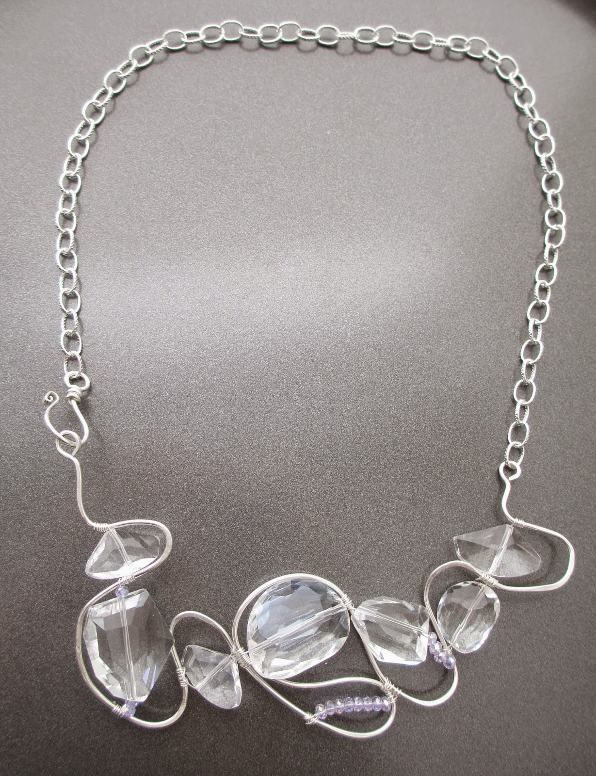 Fall 2013 Crystal Weave Necklace by Bobbie Rafferty