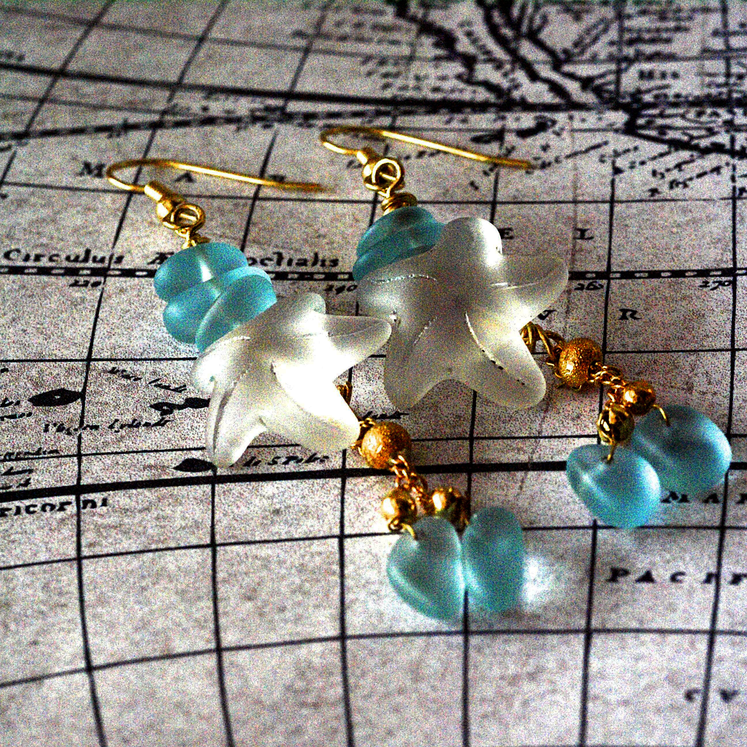 Winter 2015 Starfish Earrings by Kathy Lindemer