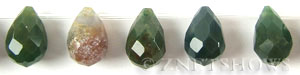 fancy jasper faceted teardrop round Beads <b>18x13mm</b>  tip-drilled   per   <b> 22-pc-str</b>