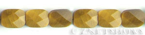 tigerseye faceted rectangle puffed Beads <b>9x12mm</b>  length-drilled   per   <b> 15.5-in-str</b>