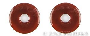 carnelian heat-treated donut Pendants <b>35mm</b>     per   <b>piece</b>