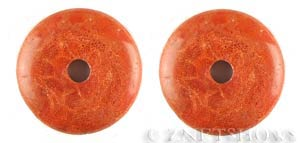 coral -  sponge coral donut Pendants <b>about 40mm</b> dyed red color    per   <b>piece</b>