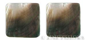 shell - black lip  square flat Pendants <b>About 40mm</b>  -hole size 2mm   per   <b>Piece</b>