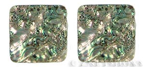 shell - abalone  square flat Pendants <b>About 40mm</b>  -hole size 2mm   per   <b>Piece</b>