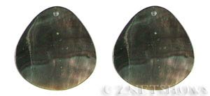 shell - black lip  teardrop puffed Pendants <b>About 40x40mm</b>  -hole size 2mm   per   <b>Piece</b>