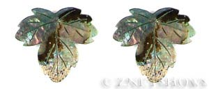 shell - abalone  leaf Pendants <b>About 40x35mm</b>  -hole size 2mm   per   <b>Piece</b>