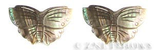 shell - black lip  butterfly Pendants <b>43x27mm</b> carved    per   <b>Piece</b>