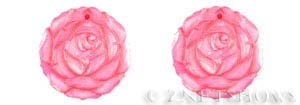 shell - dyed hot pink color  rose flower Pendants <b>30mm</b> dyed hot pink color carved   per   <b>Piece</b>