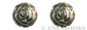 shell - black lip  rose flower Pendants <b>30mm</b>  carved   per   <b>Piece</b>
