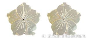 shell - golden lip  flower Pendants <b>40mm</b> carved    per   <b>Piece</b>