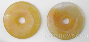 yellow jasper  donut Pendants <b>About 35mm</b>     per   <b>piece</b>