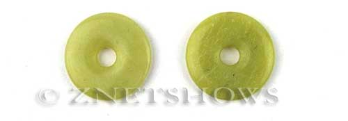 olive jade  donut Pendants <b>About 24 to 25mm</b>     per   <b>piece</b>