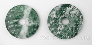 Other Stones & materials -  tree agate donut Pendants <b>About 35mm</b>     per   <b>piece</b>