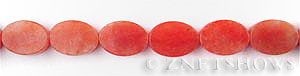 red aventurine  oval flat Beads <b>14x10mm</b>  length-drilled   per   <b> 15.5-in-str</b>