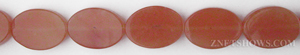 red aventurine  oval flat Beads <b>18x13mm</b>  length-drilled   per   <b> 15.5-in-str</b>