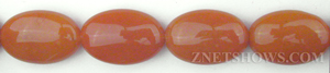 red aventurine  oval puffed Beads <b>15x20mm</b>     per   <b> 16 Inch Strand</b>