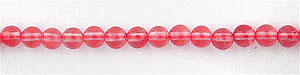 strawberry glass quartz  round Beads <b>6mm</b>     per   <b> 15.5-in-str</b>