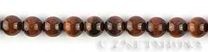 tigerseye red tigerseye round Beads <b>8mm</b>     per   <b> 15.5-in-str</b>