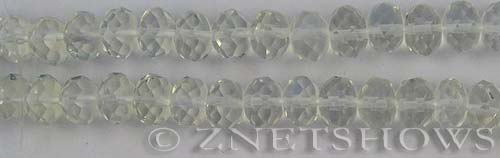 opalescent glass quartz faceted rondelle Beads <b>10x7mm</b>     per   <b> 16-in-str</b>