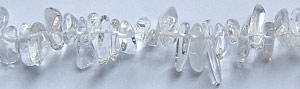 crystal quartz  nugget Beads <b>about 22-8x8-4mm</b> long pebble    per   <b> 15.5-in-str</b>