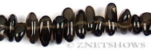 smoky quartz  oval puffed Beads <b>about 12x8mm</b> long pebble    per   <b> 15.5-in-str</b>