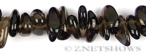 smoky quartz  oval puffed Beads <b>about 15x10mm</b> long pebble    per   <b> 15.5-in-str</b>