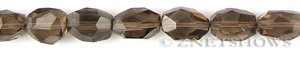 smoky quartz faceted nugget Beads <b>about 20x15mm</b>     per   <b> 15.5-in-str</b>