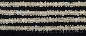 moonstone faceted rondelle Beads <b>about 3x5mm</b>     per   <b> 14-in-str (150-pc)</b>