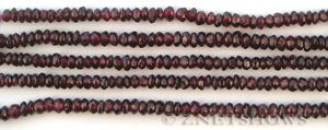 red garnet faceted rondelle Beads <b>about 3x5mm</b>     per   <b> 14-in-str (140-pc)</b>