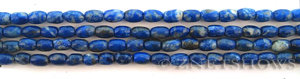 lapis  barrel Beads <b>about 6x4mm</b>     per   <b> 15.5-in-str</b>