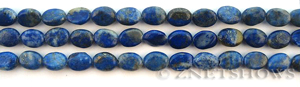 lapis  oval puffed Beads <b>about 9x6mm</b>     per   <b> 15.5-in-str</b>