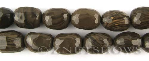 coffee jasper faceted nugget Beads <b>about 18x13mm</b>     per   <b> about 8-in-str (12-pc)</b>