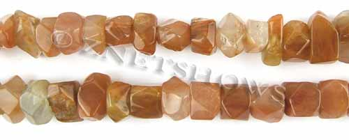 Other stone & material red quartz faceted nugget Beads <b>about 14x10mm</b>     per   <b> 15.5-in-str</b>