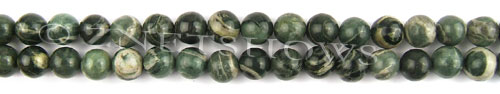 african silver leaf  round Beads <b>8mm</b>     per   <b> 8-in-str</b>