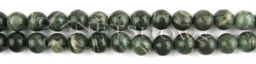 african silver leaf  round Beads <b>10mm</b>     per   <b> 8-in-str</b>