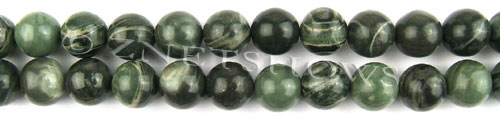 african silver leaf  round Beads <b>12mm</b>     per   <b> 8-in-str</b>