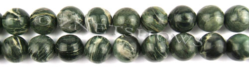 african silver leaf  round Beads <b>14mm</b>     per   <b> 8-in-str</b>
