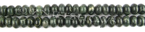 african silver leaf  rondelle Beads <b>10x7mm</b>     per   <b> 8-in-str</b>