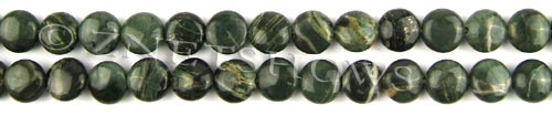 african silver leaf  coin puffed Beads <b>10mm</b>     per   <b> 8-in-str</b>