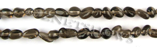 smoky quartz  pebbles Beads <b>about 7x6mm</b>     per   <b> 15.5-in-str</b>