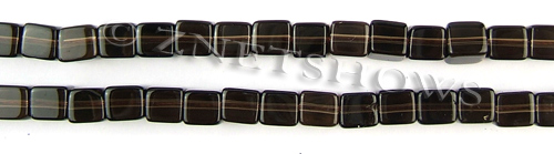 smoky quartz  cube Beads <b>6mm</b>     per   <b> 15.5-in-str</b>