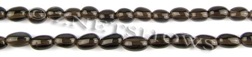 smoky quartz freeform barrel Beads <b>about 9x6-7x5mm</b>     per   <b> 15.5-in-str</b>