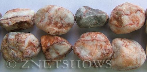 agate red flower agate nugget Beads <b>about 20x25mm</b> rough    per   <b> 8-in-str</b>